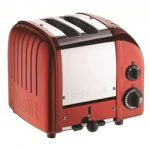 Dualit New Generation Vario 2-Slice Bread Classic Toaster – Candy Apple Red