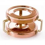 Mauviel Rechaud M' Mini Heater Candle For Small Saucepan, Bronze Handles