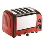 Dualit New Generation Vario 4-Slice Bread Classic Toaster – Candy Apple Red