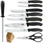 Victorinox Swiss Classic 10-Piece Fibrox Swivel Knife Block Set
