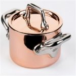 Mauviel M'Heritage Mini Cocotte With Lid 0.3-qt, Stainless Steel Handle