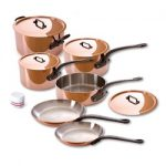 Mauviel Cuprinox M150 M'Heritage 1.5mm 10-Piece Cookware Set -Cast Iron Handles
