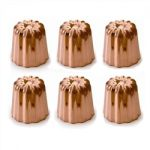 de Buyer Copper Canele Mold, Set of 6 – Small Version