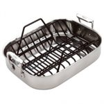 All-Clad 51114 Stainless Steel Roasting Pan with Rack 14 x 11-inches