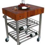 John Boos Cucina Cherry D'Amico Wine Cart