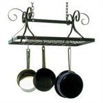 Enclume Decor Rectangle Pot Rack – Hammered Steel
