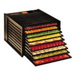 Excalibur Deluxe Food Dehydrator – 9 Trays – Black + ParaFlexx Disposable Sheets