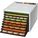 Excalibur Deluxe Food Dehydrator – 9 Trays – White + ParaFlexx Disposable Sheets