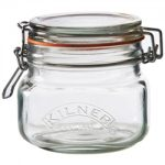 Kilner Square Clip Top Jar, 17-Fl Oz, 0.5 Lt