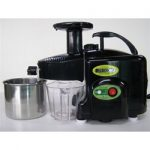 Green Power Twin Gear Juicer – Black