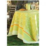 Le Jacquard Francais Provence Lemon Green Tablecloth 69 x 98 (inches)