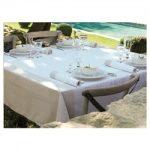Le Jacquard Francais Venezia Champagne Tablecloth 69 x 126 (inches)