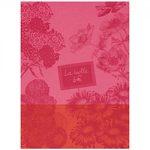 Le Jacquard Francais Marche Fleurs Peony Tea / Kitchen Towel 24 x 31 (inches)