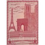 Le Jacquard Francais Paris Peony Tea / Kitchen Towel 24 x 31 (inches)