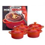 Le Creuset Set of 4 Mini Cocottes w/Cookbook – Cherry