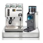 Rancilio Miss Silvia V3 Espresso Machine / Rocky Doserless Grinder / Base Set