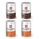 illy Espresso Whole Coffee Bean – Single Origin Ethiopia & Brazil- Set of 4